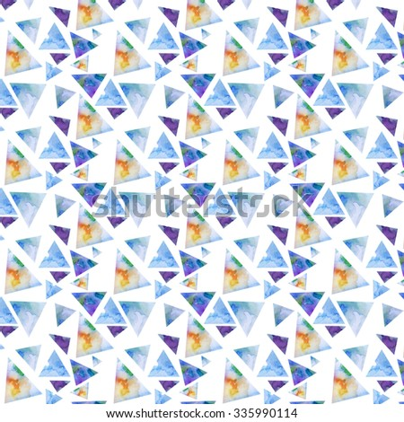 Beaituful geometric watercolor pattern - stock photo