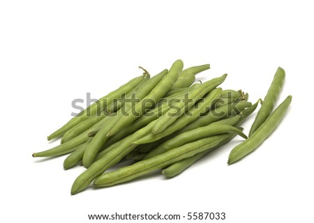 bean on white background