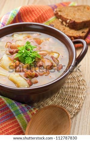 Bean soup - stock photo