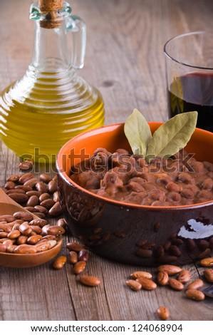 Bean soup. - stock photo