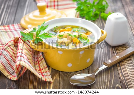 Bean soup - stock photo