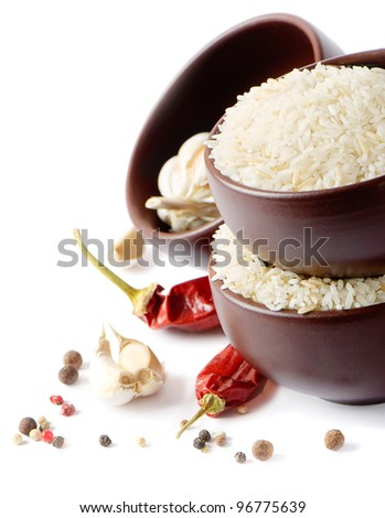 beans and lentil isolated on white - stock photo