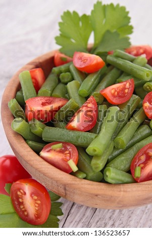 beans and tomatoes salad