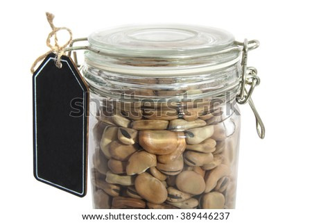 Beans in glass jar for background use