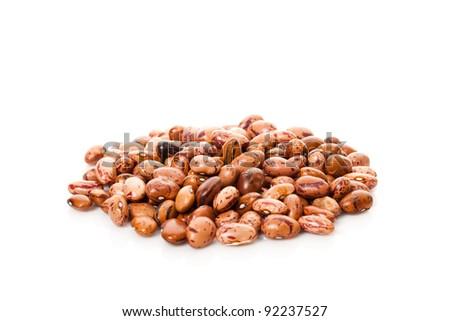 Beans isolated on white background - stock photo