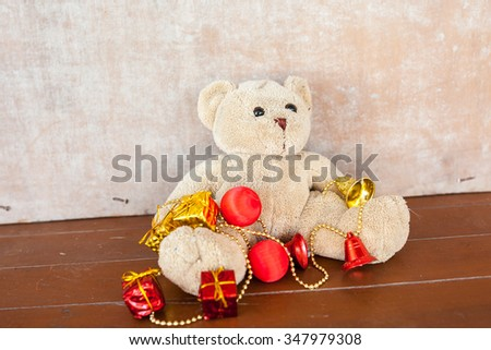 bear decoration for christmas and happy new year