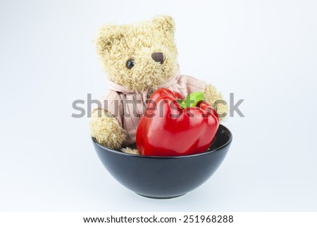 Bear doll with love