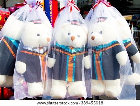 Bear dolls in academic gown
