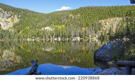 Bear Lake at Rocky Mountain National Park Colorado  - stock photo