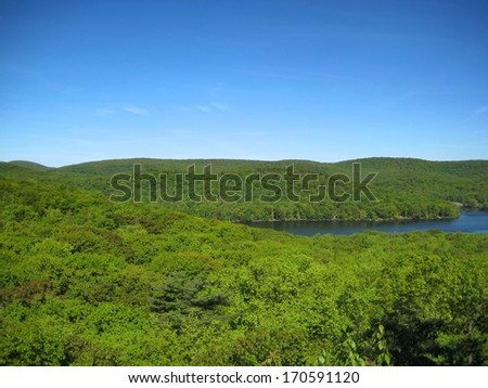 Bear Mountain along the Appalachian Trail in New York - stock photo