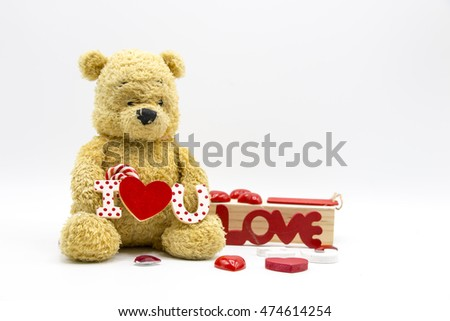 Bear with Love lettering on white background