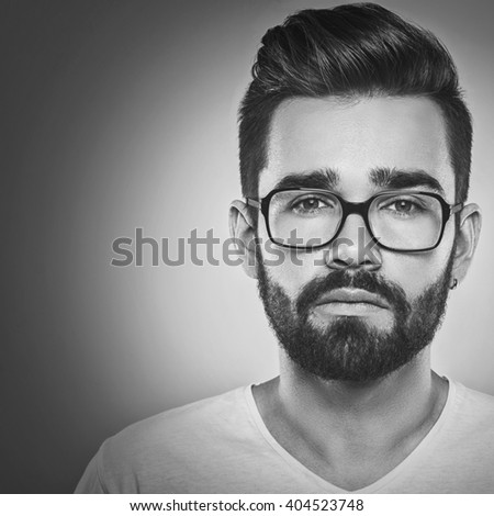 Bearded man in eyeglasses