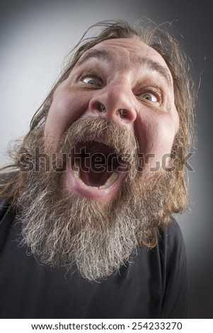 Bearded old man in the image of God