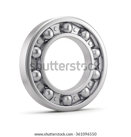 Bearing ball tool isolated on white background