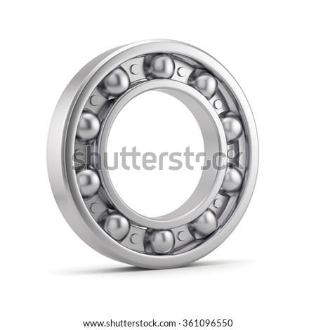Bearing ball tool isolated on white background - stock photo