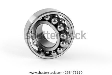 Bearing on a white background - stock photo