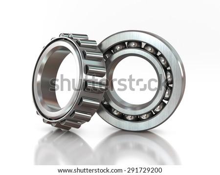 bearings tool isolated on white background - stock photo