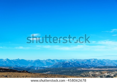Beartooth Mountains landscape as seen in Montana, USA - stock photo