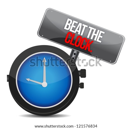 Beat the Clock concept illustration design graphic - stock photo