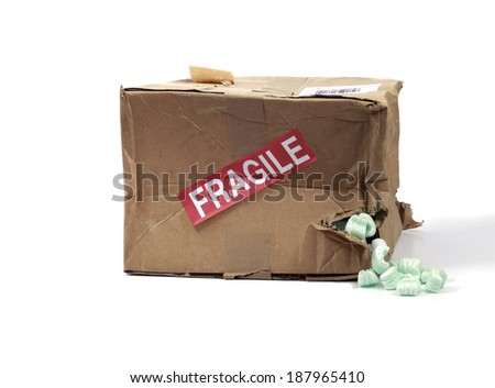 Beat up Delivery Box - stock photo