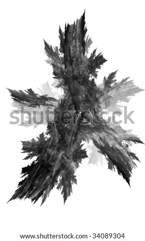Beatiful black and white fractal