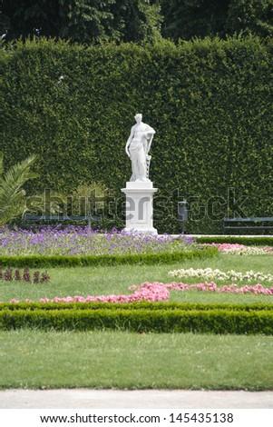 Beatiful park in Schoenbrunn, Vienna, Austria   - stock photo