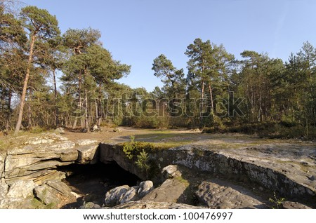 beatrix cave in fontainebleau forest