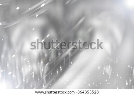 beautiful abstract background grey bokeh circles. Christmas background. - stock photo