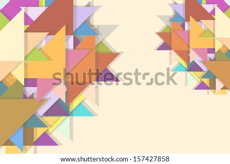 beautiful abstract background with geometry raster
