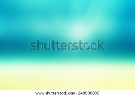 Beautiful Abstract beach and tropical sea. Blur abstract summer photo for your design.  - stock photo