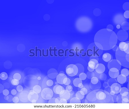Beautiful abstract blue  background of holiday lights  - stock photo