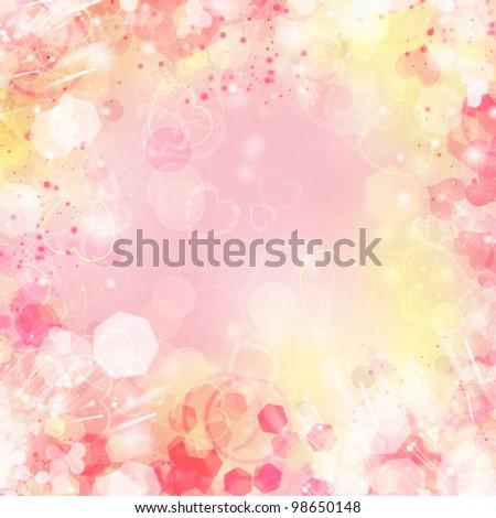 Beautiful abstract bokeh - stock photo