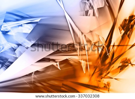 beautiful abstract broken glass design background - stock photo