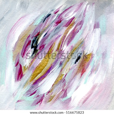 Beautiful abstract card design in white tones with golden strokes