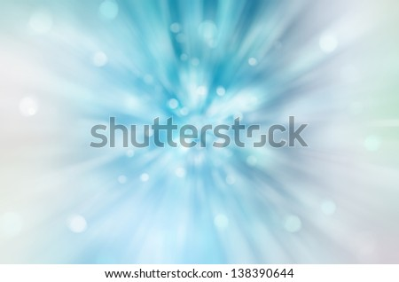 Beautiful abstract  fantasy  background, soft blurred rays of light, speed effect, bokeh lights - stock photo