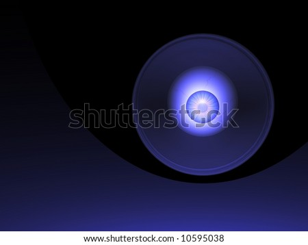 Beautiful abstract glowing eyeball