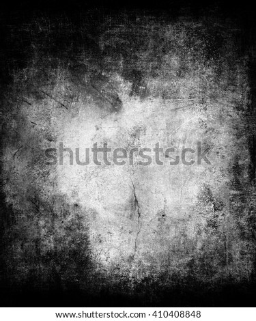 Beautiful abstract grunge wall, scratched texture background with frame and faded central area for your text or picture - stock photo