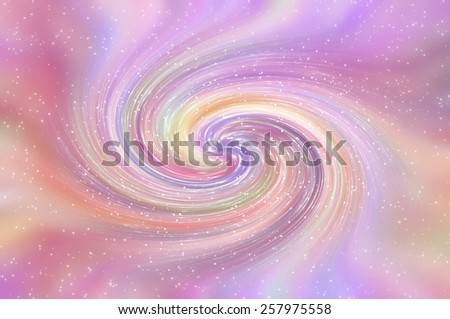 Beautiful abstract multicolored shiny background. Spiral galaxy and glitter