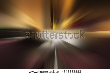 Beautiful abstract of a zoom blurred background.