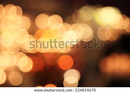 Beautiful abstract of yellow blur light background - stock photo
