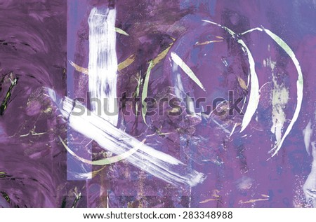 Beautiful Abstract Original Oil painting - stock photo
