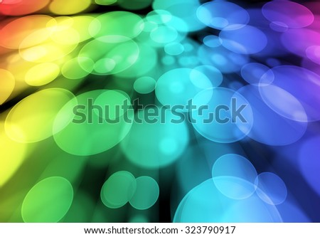 Beautiful abstract round bokeh background.
