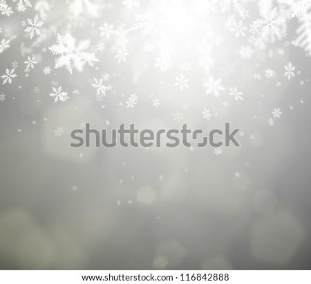 Beautiful abstract snowflake Christmas background - stock photo