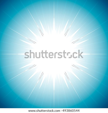 Beautiful abstract starburst background isometric illustration