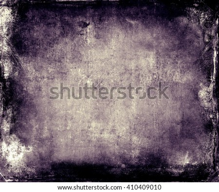 Beautiful abstract vintage grunge background with faded central area for your text or picture, scratched purple background - stock photo