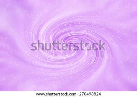 Beautiful abstract violet shiny background. Spiral galaxy and glitter