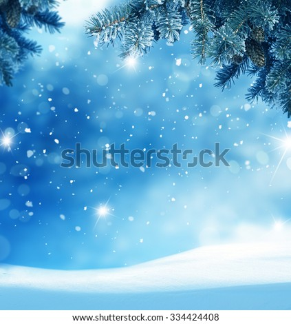 Beautiful abstract winter christmas background - stock photo