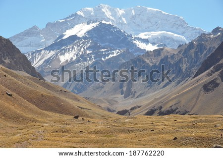 Beautiful Aconcagua at 6900 meters, Argentina
