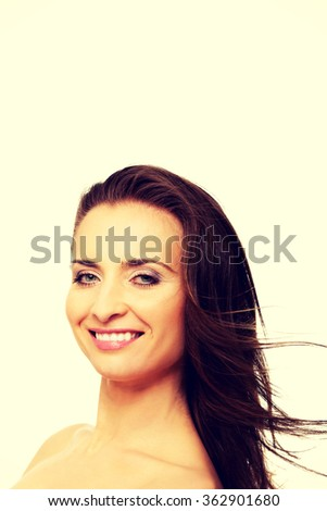 Beautiful adult woman with gorgeous hair.