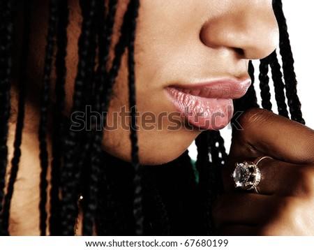 beautiful African woman - stock photo